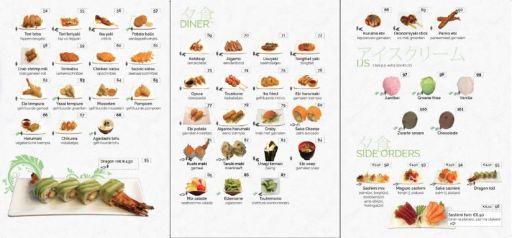 Kaart Sushi 1