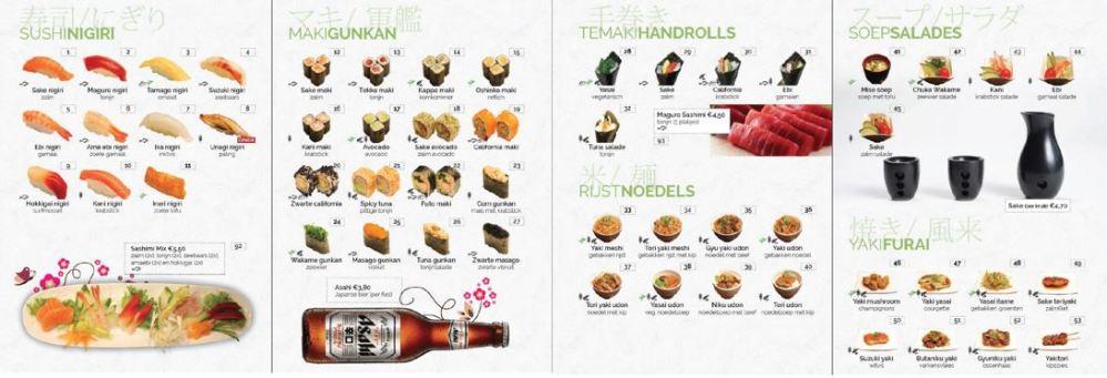 Kaart Sushi
