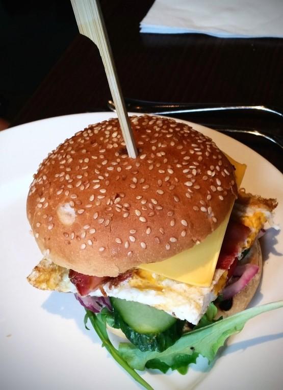 Hamburger van rundvlees